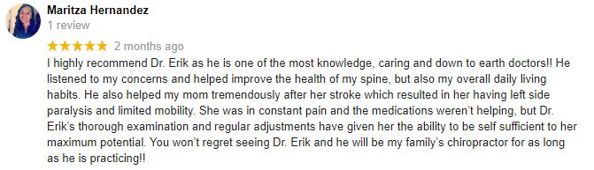 Chiropractic Wyoming WI Patient Testimonial at Love and Health Chiropractic